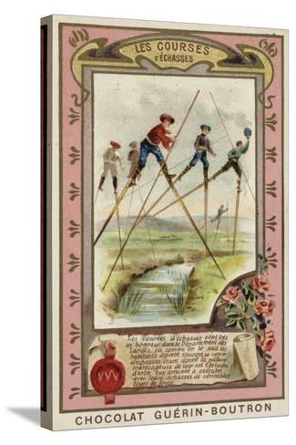 Stilt Race in the Landes, France--Stretched Canvas Print