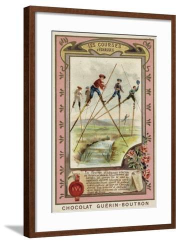 Stilt Race in the Landes, France--Framed Art Print