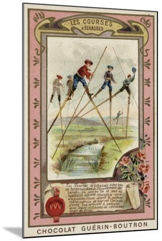 Stilt Race in the Landes, France--Mounted Giclee Print