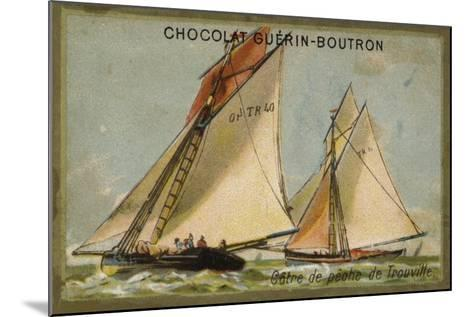 Trouville Fishing Cutter--Mounted Giclee Print