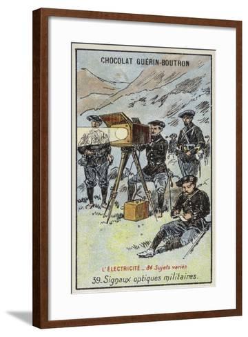 Military Optical Signals--Framed Art Print