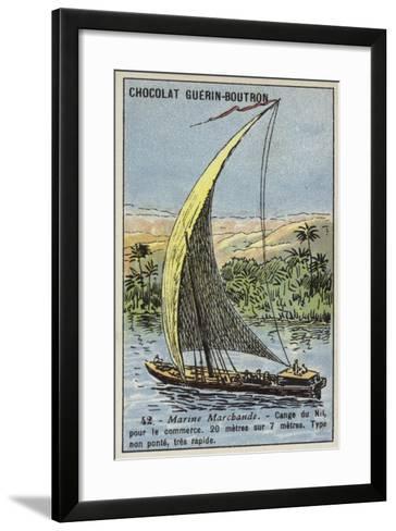 Cange on the Nile, Egypt--Framed Art Print