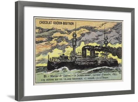 French Battleship Jaureguiberry, 1893--Framed Art Print