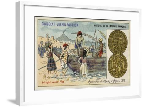 Gold Carlin of Charles of Anjou, 1278--Framed Art Print