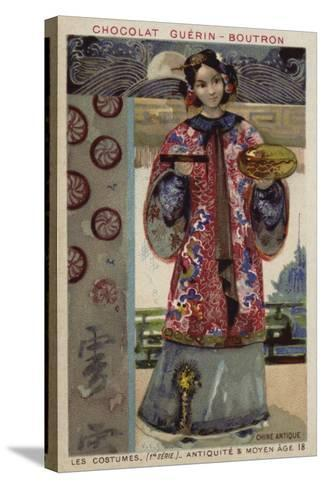 Ancient Chinese Costume--Stretched Canvas Print