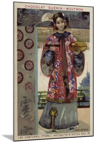 Ancient Chinese Costume--Mounted Giclee Print