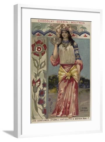 Ancient Persian Costume--Framed Art Print
