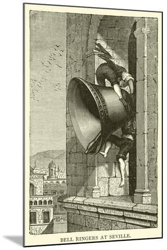 Bell Ringers at Seville--Mounted Giclee Print