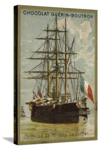 French Ironclad Suffren--Stretched Canvas Print
