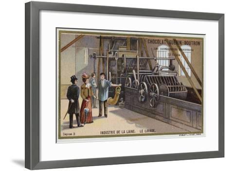 Wool Industry, Washing--Framed Art Print