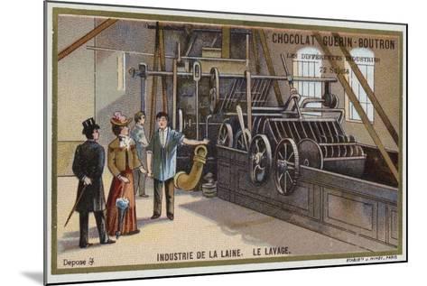 Wool Industry, Washing--Mounted Giclee Print