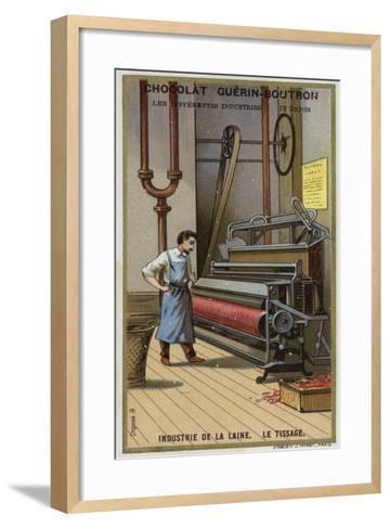 Wool Industry, Weaving--Framed Art Print