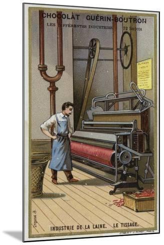 Wool Industry, Weaving--Mounted Giclee Print