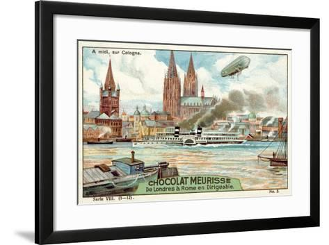 Above Cologne at Midday--Framed Art Print