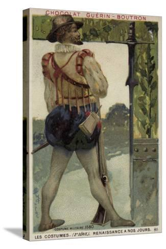 Military Costume, 1580--Stretched Canvas Print