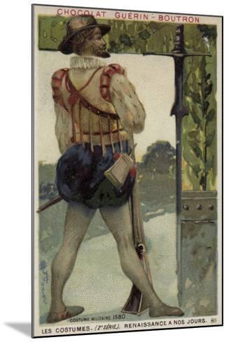Military Costume, 1580--Mounted Giclee Print