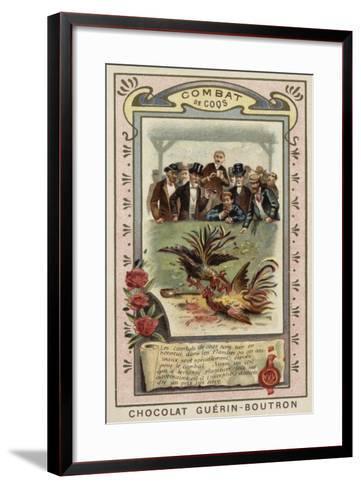 Cockfighting--Framed Art Print