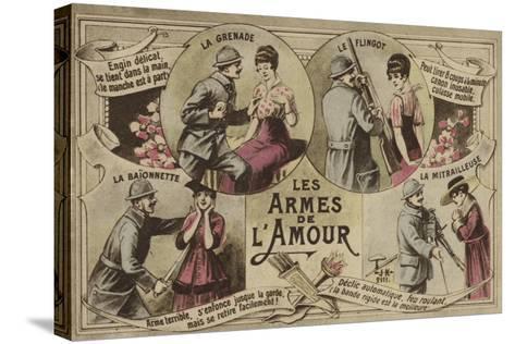 Les Armes De L'Amour--Stretched Canvas Print