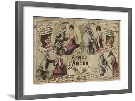 Les Armes De L'Amour--Framed Art Print
