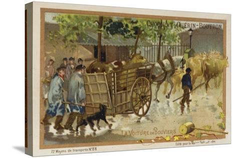 Drover's Wagon--Stretched Canvas Print