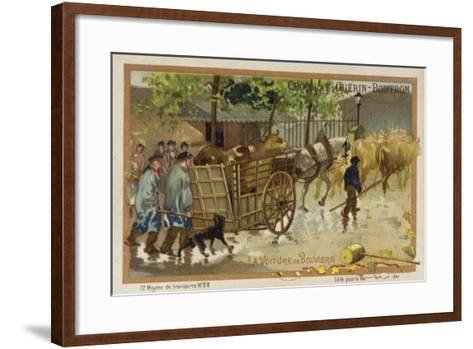 Drover's Wagon--Framed Art Print