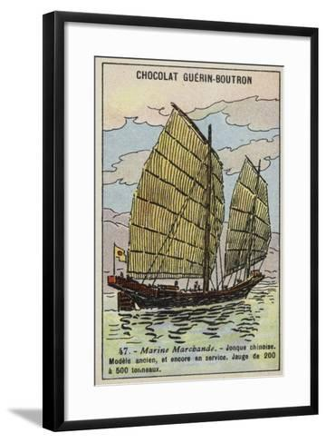 Chinese Junk--Framed Art Print
