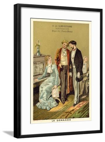 The Question--Framed Art Print