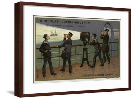 Electric Searchlight--Framed Art Print