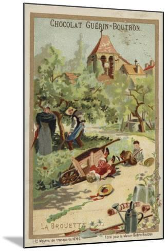 Wheelbarrow Accident--Mounted Giclee Print