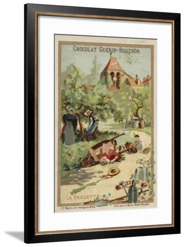 Wheelbarrow Accident--Framed Art Print