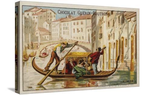 Rialto Bridge, Venice--Stretched Canvas Print