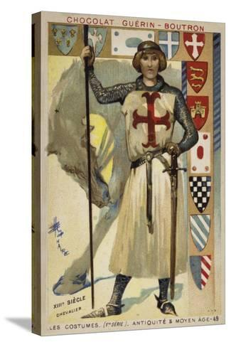 Knight, 13th Century--Stretched Canvas Print