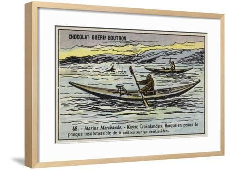 Greenland Kayak--Framed Art Print