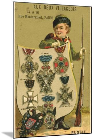 Russian Medals--Mounted Giclee Print