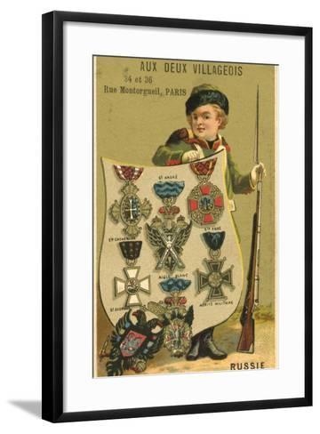 Russian Medals--Framed Art Print