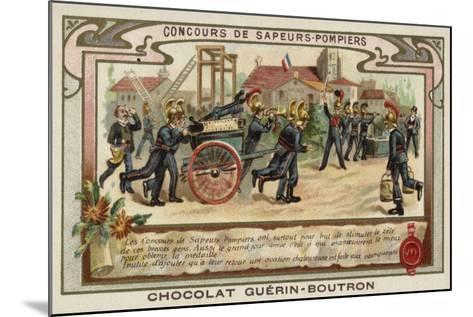 Firemen's Competition--Mounted Giclee Print