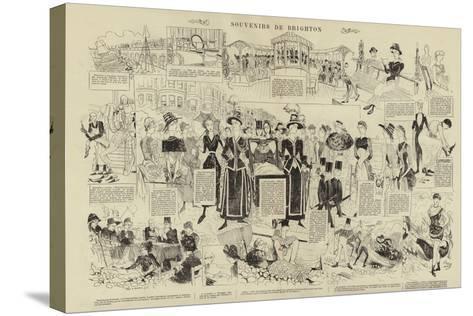 Souvenirs De Brighton--Stretched Canvas Print