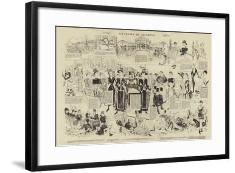 Souvenirs De Brighton--Framed Art Print