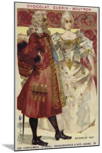 Lord and Lady, 1667--Mounted Giclee Print