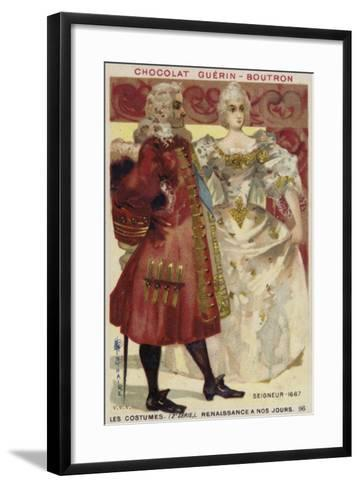 Lord and Lady, 1667--Framed Art Print