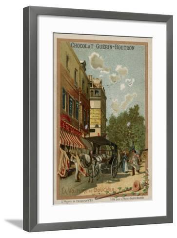 Butcher's Wagon--Framed Art Print