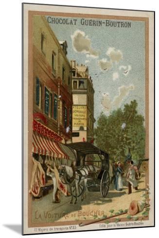 Butcher's Wagon--Mounted Giclee Print