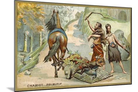 Primitive Wagon--Mounted Giclee Print