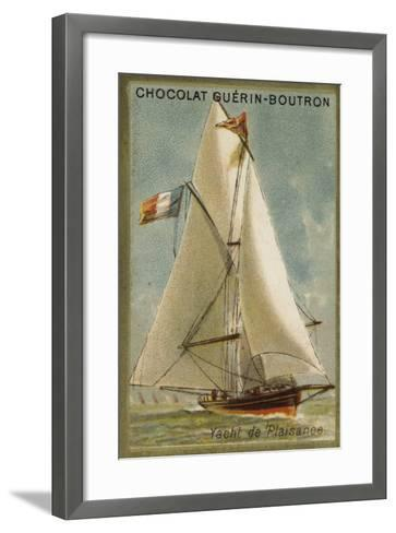Pleasure Yacht--Framed Art Print