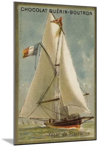 Pleasure Yacht--Mounted Giclee Print