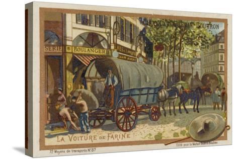 Flour Wagon--Stretched Canvas Print