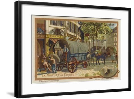 Flour Wagon--Framed Art Print