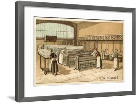 Manufacturing Candles--Framed Art Print