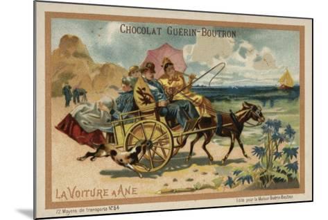 Donkey Cart--Mounted Giclee Print