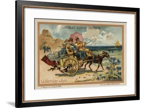 Donkey Cart--Framed Art Print